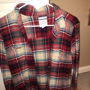 American eagle flannel size xl